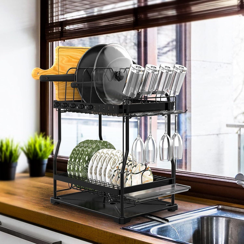 MOSUNECE Dish ブランド買うならブランドオフ Drying Rack Set and 2-Tier 新作販売 Drainboard