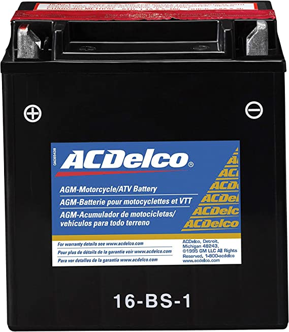 ACDelco Gold ATX16BS1 12 Month Warranty Powersports AGM JIS 16-BS-1 Battery