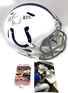 Marlin Mack Indianapolis Colts Signed Autograph Speed Full Size Helmet JSA Witnessed Certified