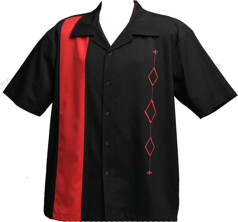 Designs free by Attila Mens Retro Bowling Tall Bla Big Red Max 80% OFF Shirt