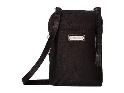 Baggallini New Classic Take Two RFID Bryant Crossbody (Black Cheetah) Handbags