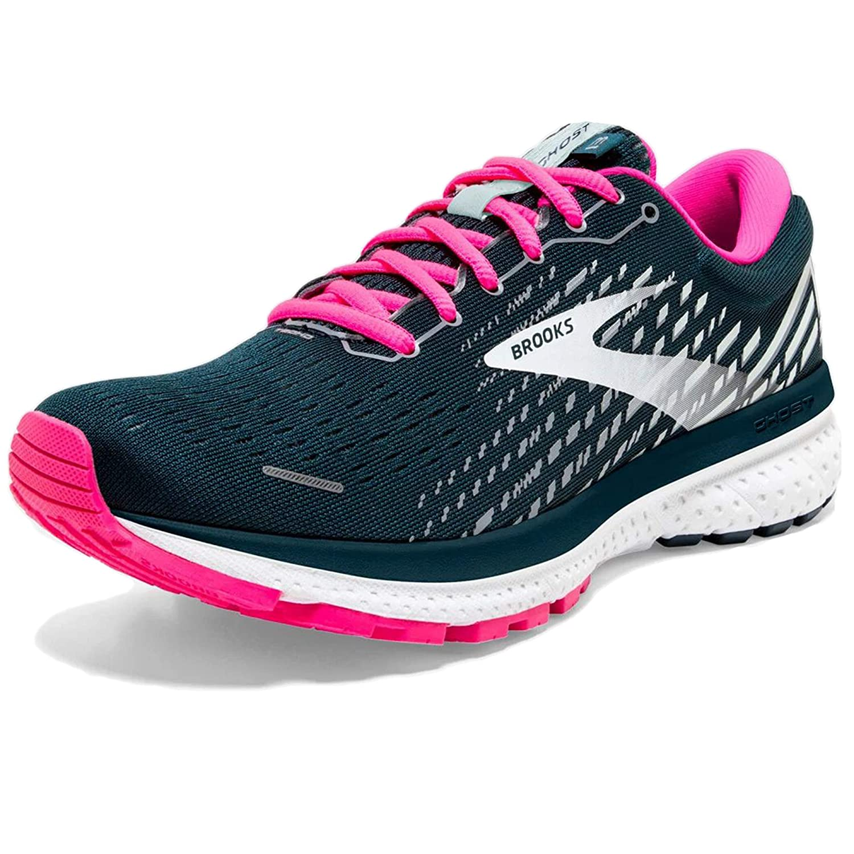 Reflectivepond Pink Ice Brooks Womens Ghost 13 Running Shoe 3 UK