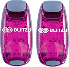 BLITZU LED Safety Light 2 Pack + Free Bonuses - Clip On Strobe Warning Flashing Running Lights for Runners, Kids, Bike, Bo...