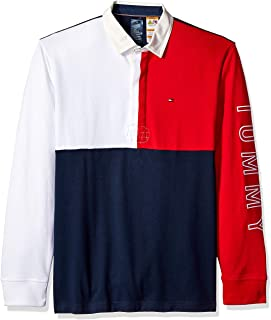 Tommy Hilfiger Men's Adaptive Rugby Shirt with Magnetic Buttons Regular Fit