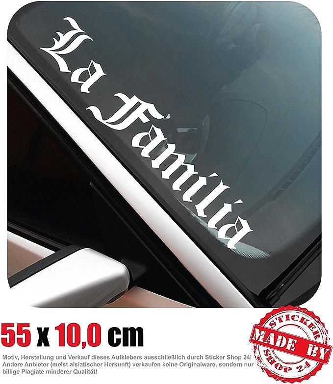 La Familia Frontscheibenaufkleber 55 0 Cm X 10 0 Cm Auto Aufkleber Jdm Oem Tuning Sticker Decal 30 Farben Zur Auswahl Auto
