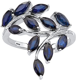 marquise blue sapphire and diamond ring