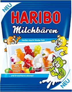 Haribo Milk Bears, Gummy Bears, Wine Gum, Fruit Gum, Milk Gum, 175 g