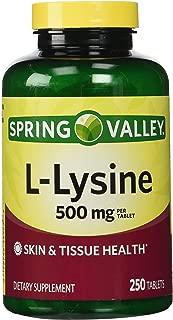 Spring Valley: Dietary Supplement L-Lysine, 250 ct