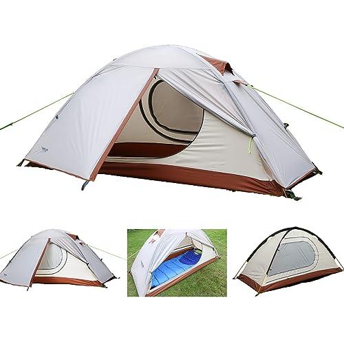 Luxe Tempo 1人用 テント2前室ソロキャンプテント登山 4シーズンに適用 軽量 アウトドア キャンプ用品 防水 グランドシートを送ります