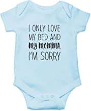 Love My Bed and My Momma, Sorry - Mamma's Boy - Funny Cute Infant Creeper, One-Piece Baby Bodysuit