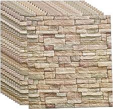 Wandpanelen zelfklevende baksteen waterdichte muurstickers 77 X 70 cm steenlook behang, industriële muurstickers wandpanel...