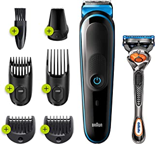 Braun 7 in 1 Trimmer MGK3245 Beard Trimmer, Face Trimmer and Hair Clipper Black
