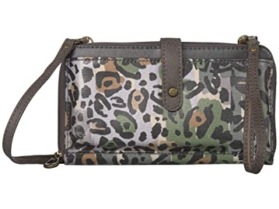 Sakroots Artist Circle Large Smartphone Crossbody (Slate Spotted Wildlife) Clutch Handbags
