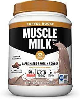Best Muscle Milk Coffee House Caffeinated Protein Powder, Mocha Latte, 32g Protein, 1.93 Pound Review