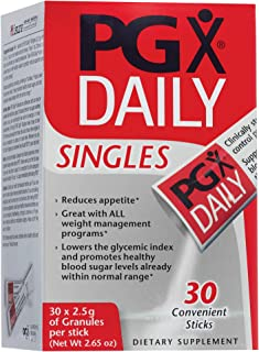 PGX by Natural Factors, Daily Singles for Healthy Weight Management, Plant-Based Dietary Supplement, 30 Individually Wrapped Sticks (2.5 g each)