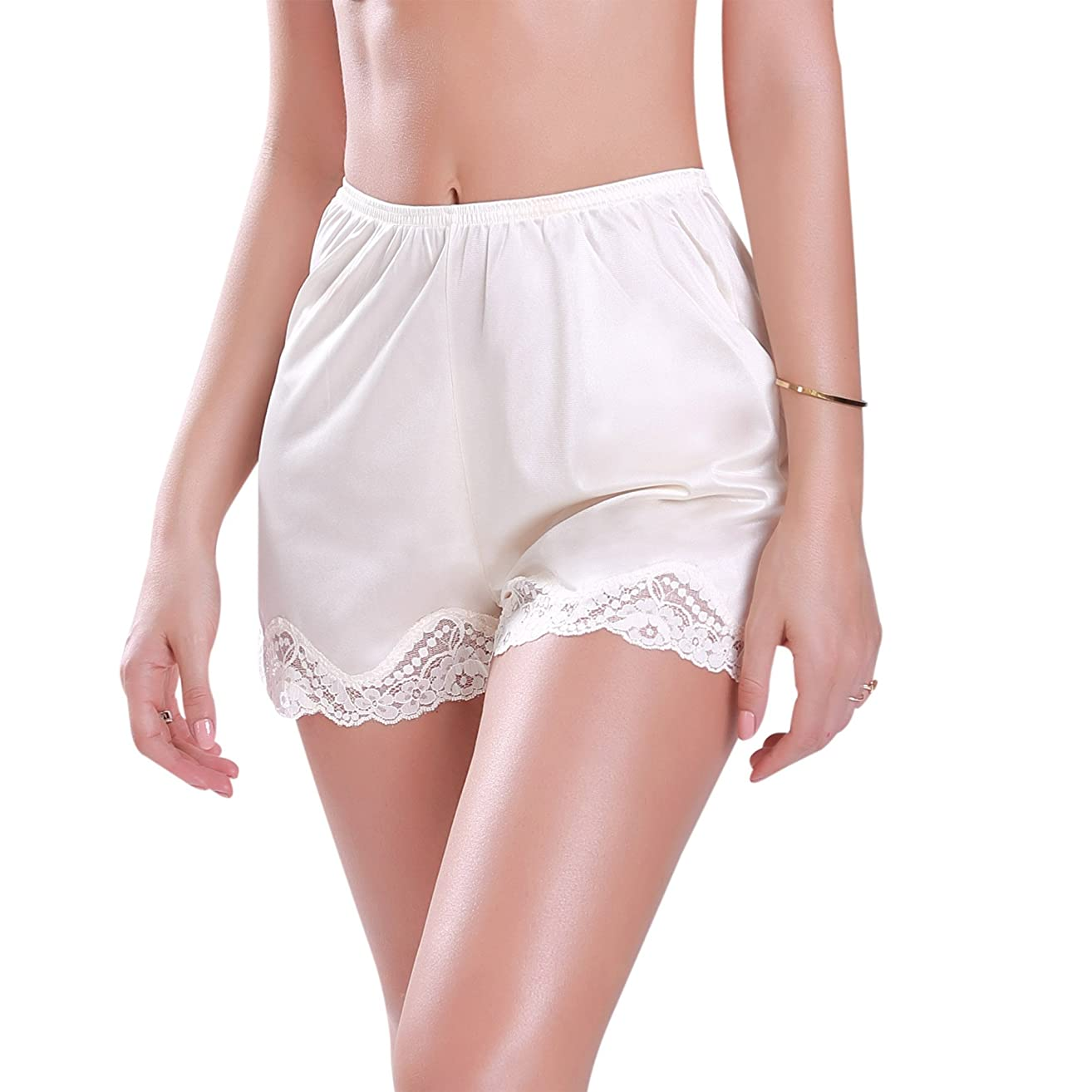 Ilusion 1039 - Women's Satin Bloomer Pettipant Short Slip