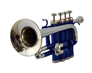 SONOROUS Piccolo trumpet BB Pitch, lacquered blue + nickel