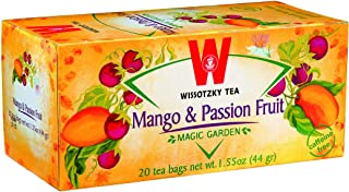 Wissotzky Mango & Passion Fruit Tea, (6 Pack) Caffine Free, Made With Premium Fruit & Herbal Tea Leaves, 20 Tea Bags Per Box