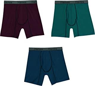 Hanes Men's 3-Pack Comfort Flex Fit Ultra Soft Stretch Boxer Brief, Available in Regular and Long Leg