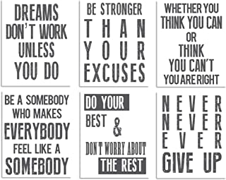 Inspirational Wall Art Poster Prints Quote Positive Affirmation Motivational Wall Art Quotes Pictures fun Office Wall Decor Artwork Art for living room bedroom walls office art (White, 6,5x7)