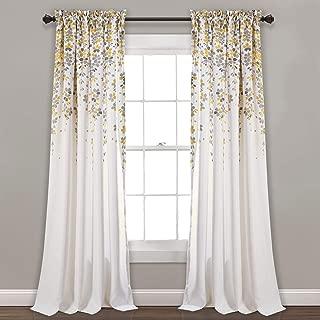 Lush Decor Weeping Flowers Room Darkening Window Panel Curtain Set (Pair), 84