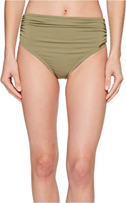 Vince Camuto - Riviera Solids Convertible High-Waist Bikini Bottom