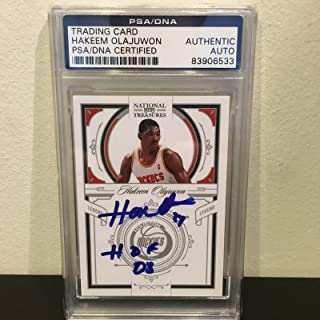 2010 Timeless Treasures Hakeem Olajuwon HOF 2008 Signed GU Jersey /99 - PSA/DNA Certified - Basketball Autographed Game Used Cards