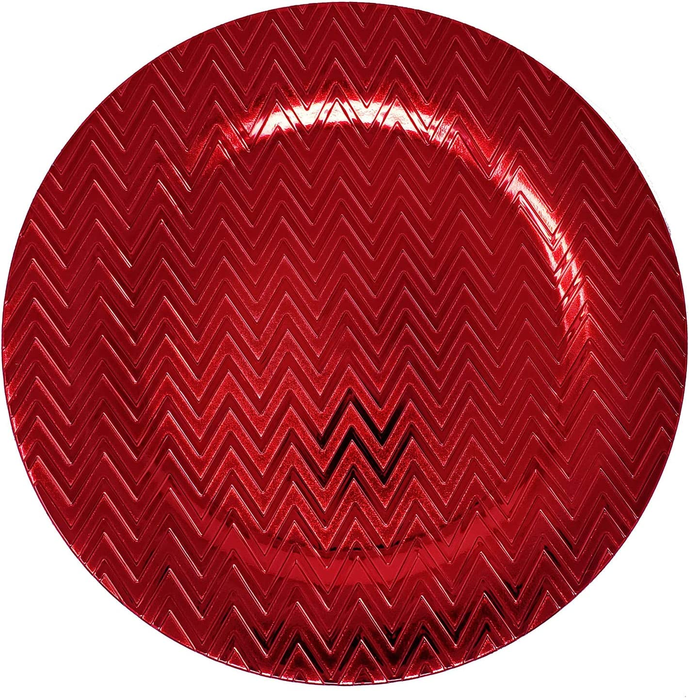 Lovely Christmas Dinnerware security Formal 13-Inch Zig outlet Self Chevron Zag