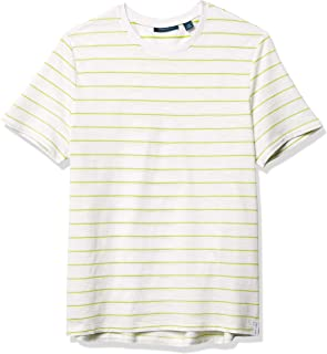 Perry Ellis Men's Neon Stripe Short Sleeve Crew Neck Tee