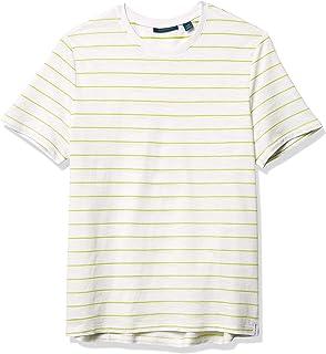 Perry Ellis Men's Neon Stripe Short Sleeve Crew Neck Tee