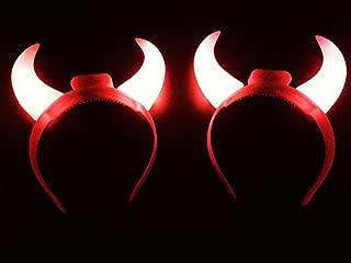 flashing red devil horns