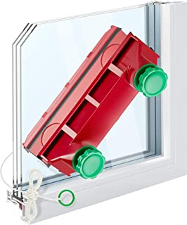 Tyroler Bright Tools Magnetic Window Cleaner The Glider D-4 Indoor and Outdoor Glass Pane Cleaning | Single, Double, or Tr...