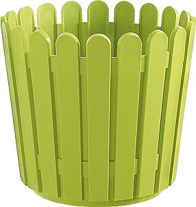 Emsa 2029905 Landhaus Pot de Fleurs Rond Vert Diamètre 30 cm
