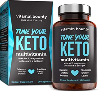 Sponsored Ad - Tune Your Keto - Ketogenic Multivitamin + Electrolytes with MCT, Collagen, Magnesium, Potassium, & MCTSmart™