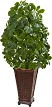 Nearly Natural 8231 Schefflera Artificial Plant in Decorative Planter (Real Touch) Silk, Green