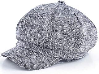 a414967df21 UKURO Womens Octagonal hat Newsboy Cotton and Linen Mixing Beret Autumn  Winter Popular Design Casual Cap