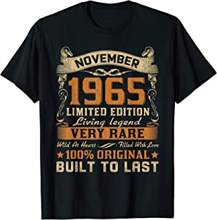 Vintage 54th Birthday November 1965 Shirt 54 Years Old Gifts T-Shirt