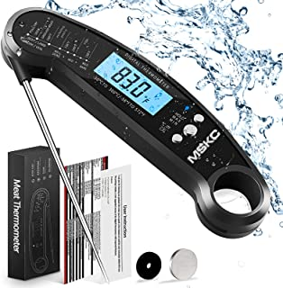 MSKC Digital Meat Thermometer,Food Thermometer Instant Read,LCD Backlight Waterproof Folding Probe Suitable for Outdoor, K...