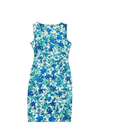 Calvin Klein Floral Print Starburst Sheath Dress (Atlantis Multi) Women
