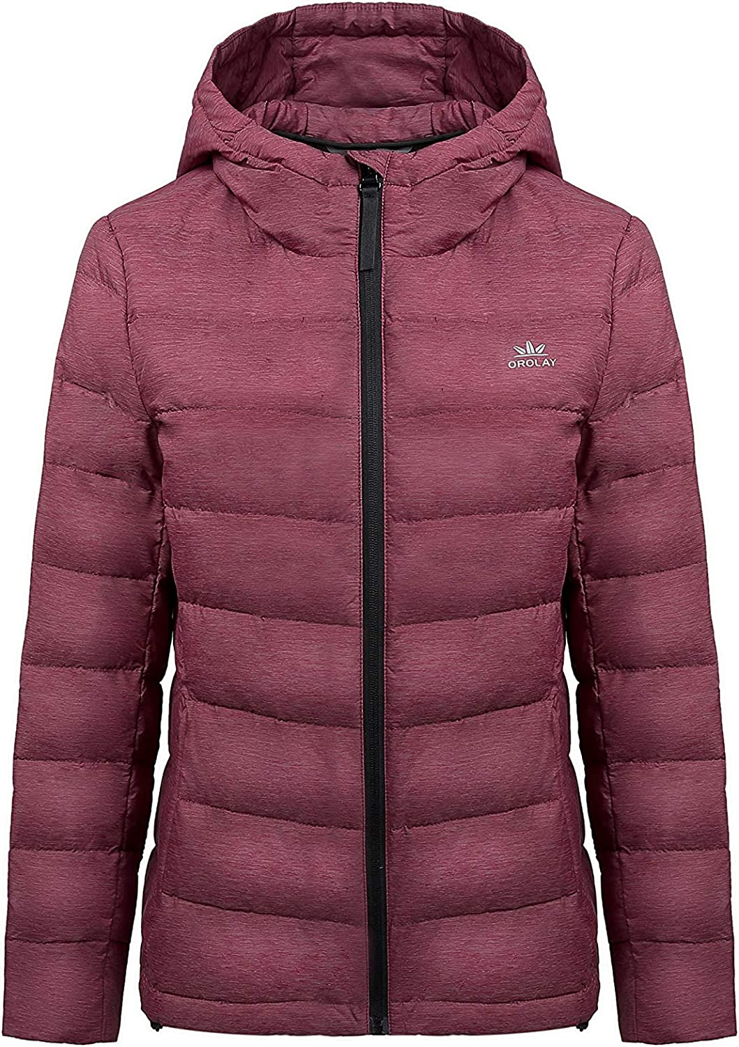 Orolay Women's Light Hooded Down Jacket Bubble Coat Packable Quilted Puffer Jacket