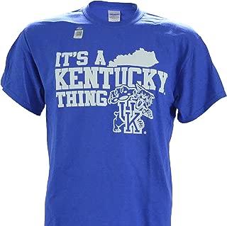 UK It's a Kentucky Thing Up NCAA University of Kentucky Wildcats on a Blue Short Sleeve T Shirt