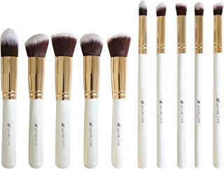 Lagure Premium Kabuki Makeup Brush Set - The Perfect Makeup Brushes for Your Eyeshadow, Contour Kit, Blush, Foundation, Concealer, Face Powder - Includes Cosmetic Brush Guide