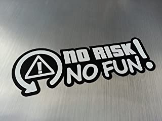 folien zentrum No Risk no Fun Shocker Hand Auto Aufkleber JDM Tuning OEM Dub Decal Stickerbomb Bombing Fun w
