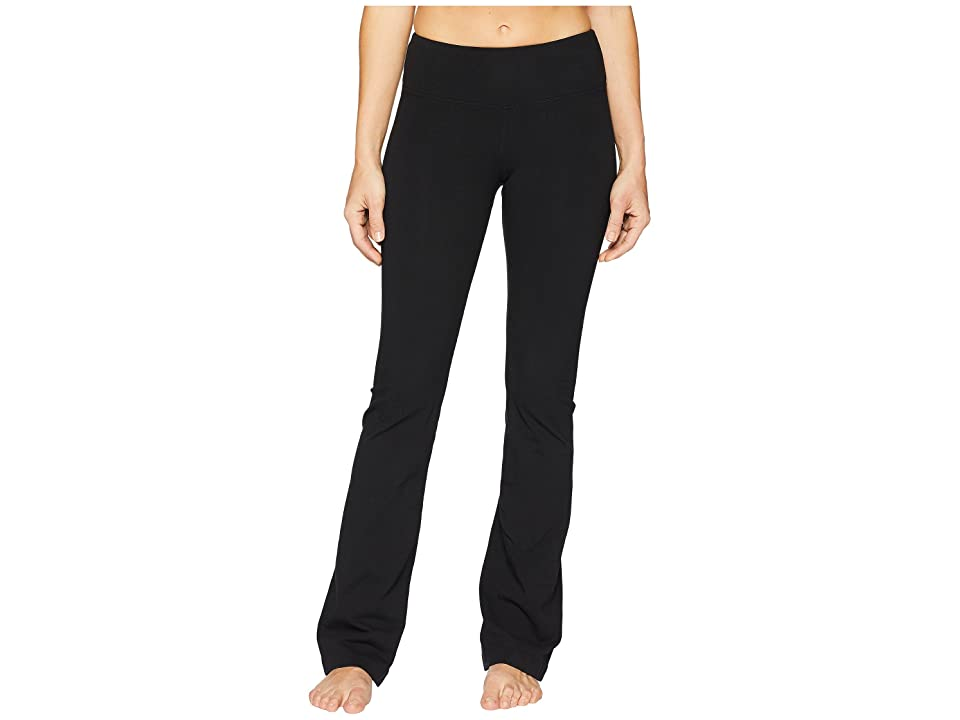 Hard Tail Flat Waist Wide Flare Pants (Black) Women
