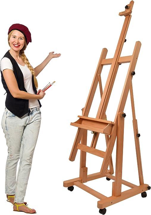 cavalletto da studio per pittura professionale in faggio  cavalletto per dipingere artina b002kw6gi6