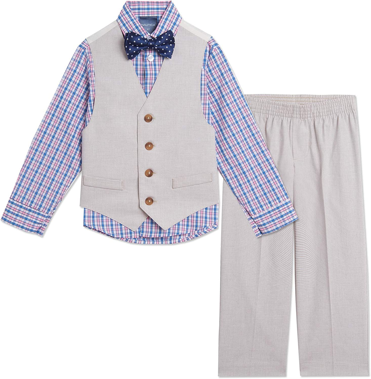 Denver Mall Nautica online shop Boys' 4-Piece Vest Set Dress Bow Tie Shirt with