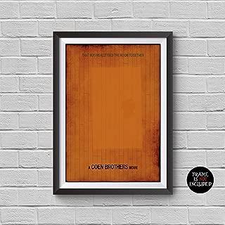 The Big Lebowski Minimalist Poster A Joel Coen Ethan Coen Alternative Movie Print Coen Brothers Jeff Bridges The Dude John Goodman Cult Classic Illustration Home Decor Wall Art