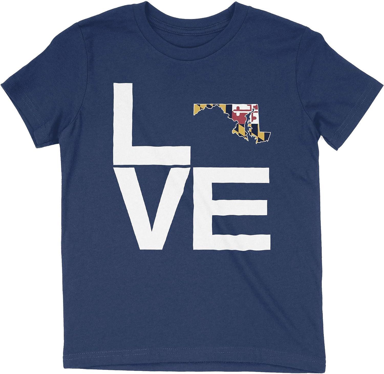 HARD EDGE DESIGN Girl's Youth Love Maryland T-Shirt