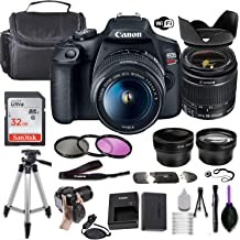 $449 » Canon EOS Rebel T7 DSLR Camera w/EF-S 18-55mm f/3.5-5.6 is II Lens + Wide-Angle and Telephoto Lenses + Portable Tripod + Memory Card + Deluxe Accessory Bundle