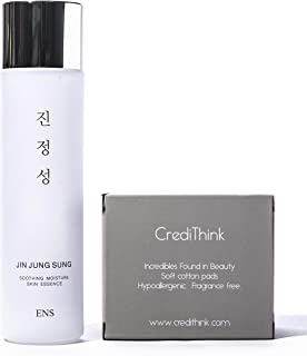 Jin Jung Sung Soothing Moisture Essence Serum 5.07 fl.oz. | Light, Natural, Moisturizing Korean-Made Facial Essence Serum for All Skin Types | Made With Niacinamide, Beta-Glucan, Hyaluronate, Ceramide